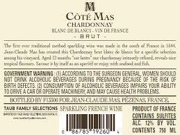 Rượu vang Pháp - Cote Mas Chardonnay Blanc De Blanc 2