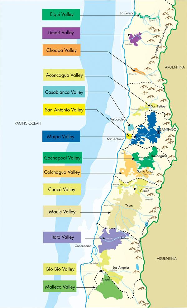 vùng trồng nho nổi tiếng tại Chile
