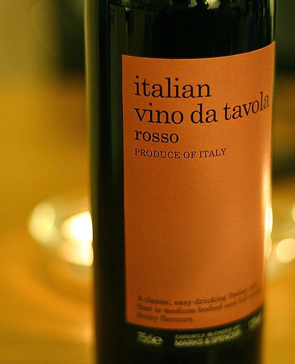 Rượu vang Vino da Tavola