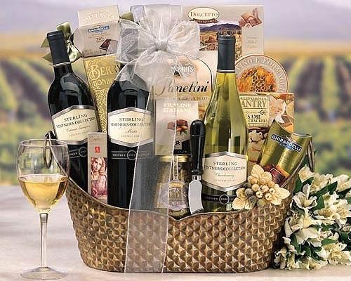giỏ quà tặng rượu vang