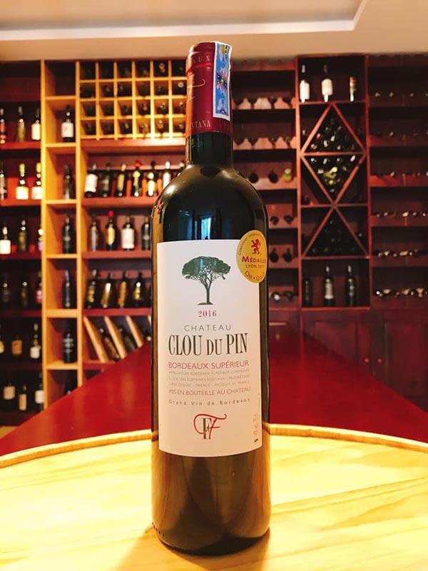 Rượu vang Château Clou Du Pin Bordeaux Supérieur