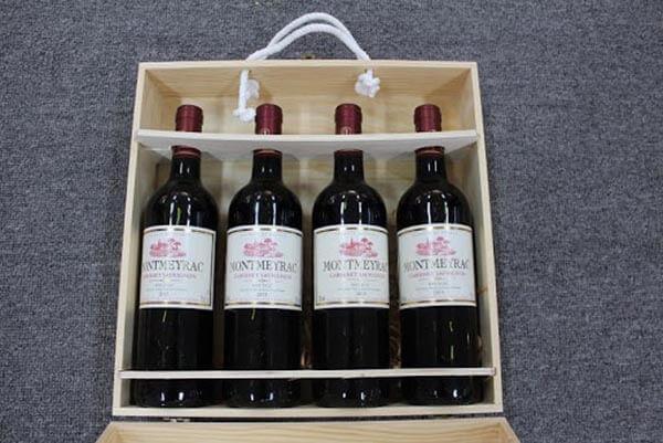 hôp quà rượu vang 4 chai