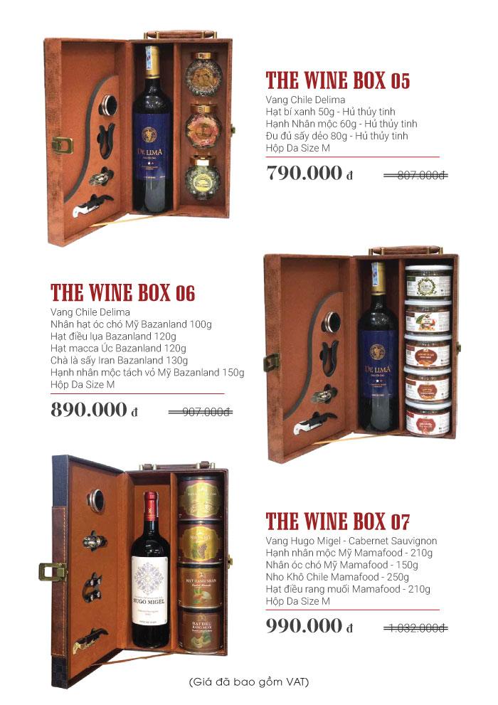 Combo hộp quà rượu vang thewinebox