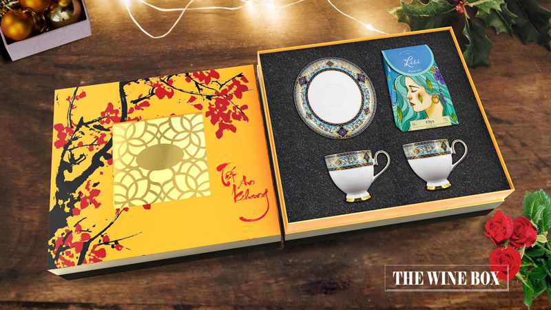 hộp quà tết trà
