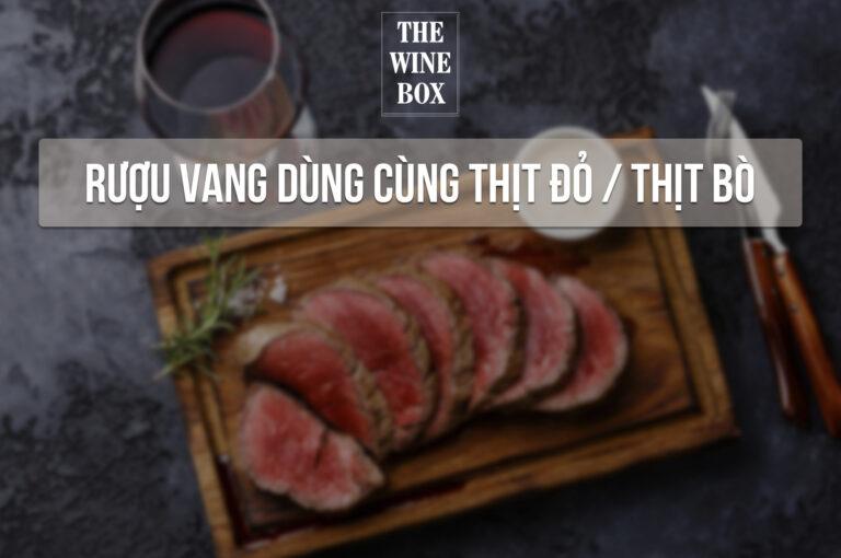 rượu vang dùng cùng thịt